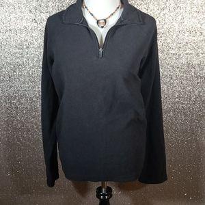Lands End Fleece 3/4 zip pullover B5